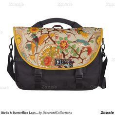 Birds & Butterflies Laptop Bag