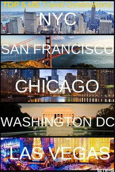 TOP 5 US Travel Destinations | by eTips #TravelApps