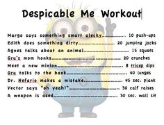 Cute idea. As much as my kids watch that movie, I should be in. shape in no time! Lol!