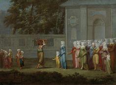 Mektepte İlk Gün / First Day at School  Jean Baptiste Vanmour (1671-1737)