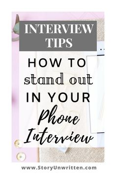 Interview Advice for Phone Interviews How to Stand Out in a Phone Interview – Tips from a professional recruiter on how to succeed in a phone interview! Interview tips Interview Questions And Answers, Job Interview Tips, Interview Preparation, Interview Techniques, Job Career, Career Advice, Career Change, Career Coach, Words To Describe Yourself