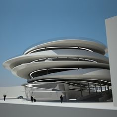 Legendary Architect Zaha Hadid Chosen to Design Miami Beach Parking Garage at Collins Park. Zaha Hadid Architecture, Architecture Unique, Futuristic Architecture, Landscape Architecture, Interior Architecture, Landscape Design, Chinese Architecture, Architecture Portfolio, Zaha Hadid Buildings