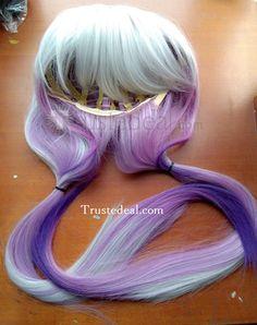Miss Kobayashis Dragon Maid Kanna Kamui Long Silver White Purple Pink Cosplay Wig 100cm  http://www.trustedeal.com/Miss-Kobayashis-Dragon-Maid-Kanna-Cosplay-Wig.html