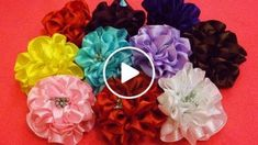Hello Friends!! Here's a tutorial to make this gorgeous full bloom satin ribbon flower. I have used these flowers to make hair comb clips. But you can be more creative and use this for various project and make any fashion accessory you wish to. --------