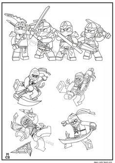 Magic Ninjago Lego Coloring Pages 03
