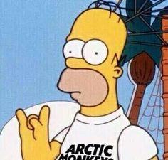 Homer rockin an Arctic Monkeys shirt. Arctic Monkeys Wallpaper, Monkey Wallpaper, Monkey Icon, Monkey 3, Alex Turner, The Simpsons, Music Covers, Album Covers, Matt Helders