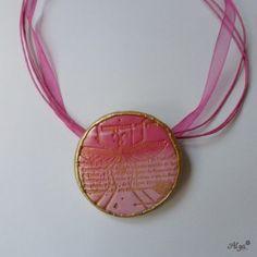 Necklace Fimo/Náhrdelník  Antik kruh