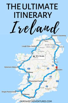 ireland travel I have the ultimate itinerary for your road trip in Ireland. It is a full circle around the Emerald Isle. My itinerary includes all the things to do in Ireland, what to see along each route, where to eat, stay and more. Europe Destinations, Europe Travel Tips, Travel Guides, Emerald Isle, Cool Places To Visit, Places To Travel, Ireland Travel Guide, Voyage Europe, Ireland Vacation