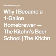 Why I Became a 1-Gallon Homebrewer — The Kitchn's Beer School | The Kitchn