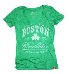 f61d9b915 Boston Celtics Burnout V Neck Shirt By Sportiqe Boston Celtics T Shirts