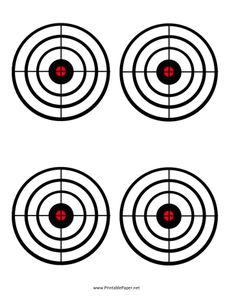 These black circle bullseyes are small enough to be challenging but clear enough to be satisfying. These targets are ideal for measuring improvement over time, as you can save your previous shooting sessions in a file folder. Free to download and print