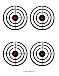Black Circles Target Paper printable at home! nice!! money saver for target practice...