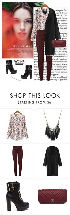 """""""Yoins 6/10"""" by mell-2405 ❤ liked on Polyvore featuring J Brand, Chanel and yoins"""
