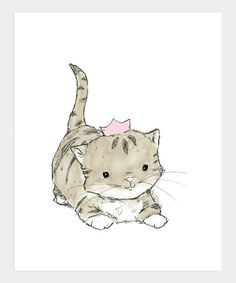Take a look at this Pink Royal Kitten Print by trafalgar's square on #zulily today!