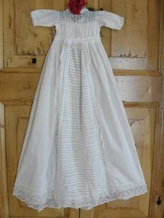 Antique 19th century Civil War Era Christening Gown ~ Amazing Lacework & Nr Mint Vintageblessings