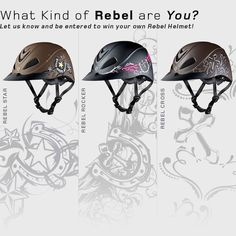 Let us know which style is your favorite by leaving a comment on our blog and be entered to win your own Rocker, Cross or Star! http://www.troxelhelmets.com/blog/troxel/rebel-helmet-fan-giveaway