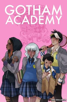 DC Comics have given us a very cool art reveal today. Above is a brand new promotional image for the upcoming Gotham Academy by Karl Kerschl—but that's not all! Read on for an exclusive interview with the comic's writer, Becky Cloonan, as well as two variant covers by her!