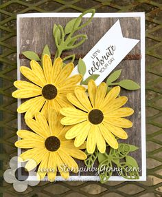 The card I created this week was inspired by the Hand Stamped Sentiments Inspiration challenge and new product from the Stampin' Up catalog. I'm so in love with the Daisy Delight Bundl…