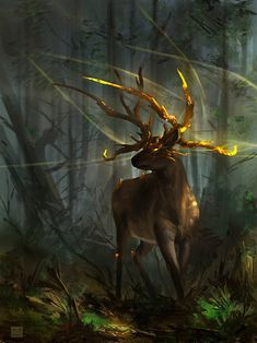 Deer guardian by Cristian Chihaia