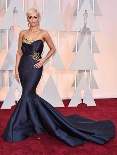 Rita Ora in custom Marchesa @ Oscars 2015