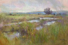 Marshland Rain by Richard McKinley Pastel ~ 12 x 16