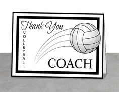 Thank You Card Volleyball Coach, Volleyball Party gift ideas