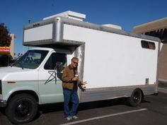Homemade RV Converted from a U-Haul Moving Truck located in Cottonwood, Arizona. #Homemaderv   Read more http://www.vagabondjourney.com/travelogue/homemade-rv-converted-from-moving-truck/