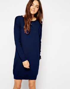 ASOS | ASOS Knitted Dress with Oversized Pocket at ASOS
