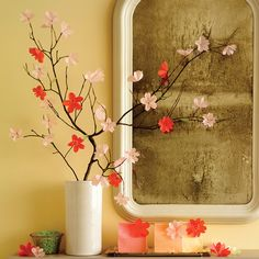 Blooming for just a few brief weeks in spring, cherry blossoms are famously ephemeral. Unless, that is, you craft artful renditions of them from glassine or vellum, in which case they'll deliver year-round pleasure.