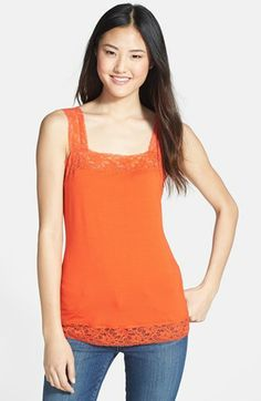 Halogen® Lace Trim Tank available at #Nordstrom