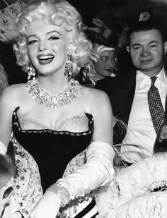 Marilyn Monroe at a benefit event at Madison Square Garden, March, 1955
