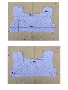 CUERPO PARA VESTIDO DE HILO BLANCO Talla 1 año Material Hilo de bebé color blanco 100% algodon marca PETRA (artículo 993A, gr...