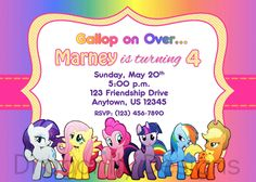 My Little Pony Invitation for Birthday Party by PixelParade 999