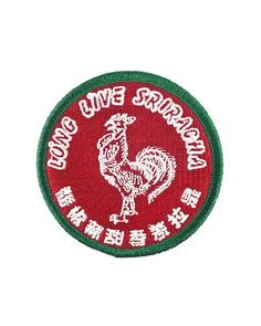 """LONG LIVE THE BEST CONDIMENT! Exclusive collaboration between Lil Bullies and Hoy Fong Foods. - Embroidered patch design - Iron-on backing - Merrowed edge stitching - Officially-licensed product - Measurements: 3"""" diameter By Lil Bullies"""