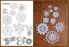 Crochet Snowflake Pattern, Christmas Crochet Patterns, Crochet Snowflakes, Easy Christmas Crafts, Simple Christmas, Christmas Decorations, Crochet Tree, Crochet Ornaments, Snow Flakes Diy