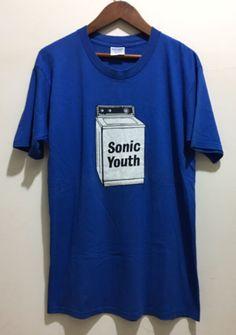 vintage 90s SONIC YOUTH Washing Machine NOISE ROCK GRUNGE PUNK t-shirt nirvana #GildanHeavyWeight