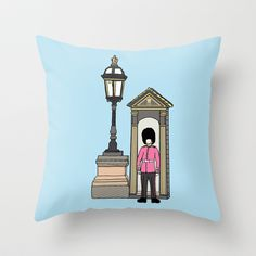 The Queen's Guard Throw Pillow by Charlotte Pettley Design - $20.00