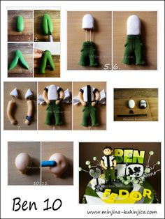 Ben 10 tutorial for birthday cake… Fondant People Tutorial, Fondant Figures Tutorial, Cake Topper Tutorial, Fondant Toppers, Fondant Cakes, Fondant Man, Ben 10 Party, Cake Decorating Techniques, Cake Decorating Tutorials