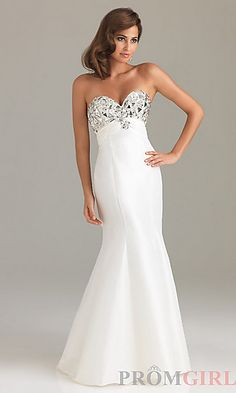 Night Moves Strapless Long Prom Dress 6431 at PromGirl.com