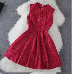 Embroidery sleeveless dress SAFS11