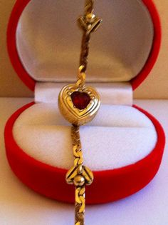 Red Heart Accent Bracelet.  For Your Lover by EtsyMtsyEveryThing