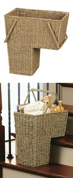 Stair Basket   I Seriously Need One Of These!
