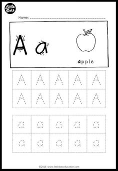Alphabet Tracing Activities for Letter A to Z | Little Dots Education | Preschool Printables and Activities