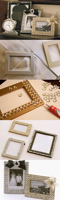 DIY bling picture frame