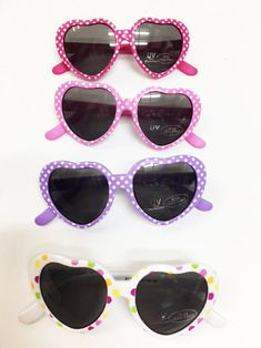 be7711431cc4 Sunglasses 176967  New Infant Baby Girl S Polka Dot Heart Bendy Sunglasses  100% Uv