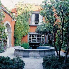 Courtyard, San Miguel de Allende- I like the orange, green, gray contrast