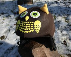 Hey, I found this really awesome Etsy listing at https://www.etsy.com/listing/176030083/brown-owl-childrenjunior-helmet-cover