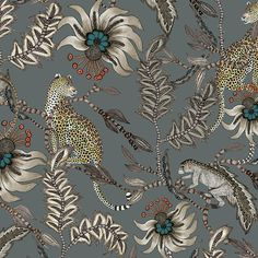 Monkey Bean Fabric - Linen - Ash