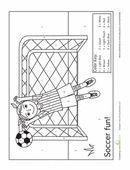 soccer color by number preschool theme sports pinterest soccer sports and preschool. Black Bedroom Furniture Sets. Home Design Ideas