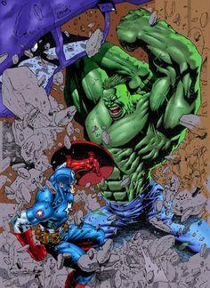 #Hulk #Fan #Art. (ULTIMATE RUMBLE 02) By: Stompboxxx. (THE * 3 * STÅR * ÅWARD OF: AW YEAH, IT'S MAJOR ÅWESOMENESS!!!™)[THANK Ü 4 PINNING!!!<·><]<©>ÅÅÅ+(OB4E)